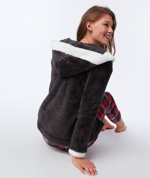 Piżama trzyczęściowa ze sztucznego futerka