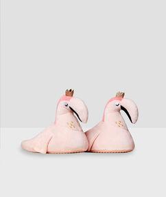 Kapcie espadryle w różowe flamingi rose.