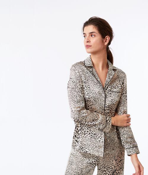 Koszula od piżamy w cętki leoparda