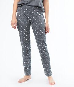 Spodnie w kwiecisty deseń gris.
