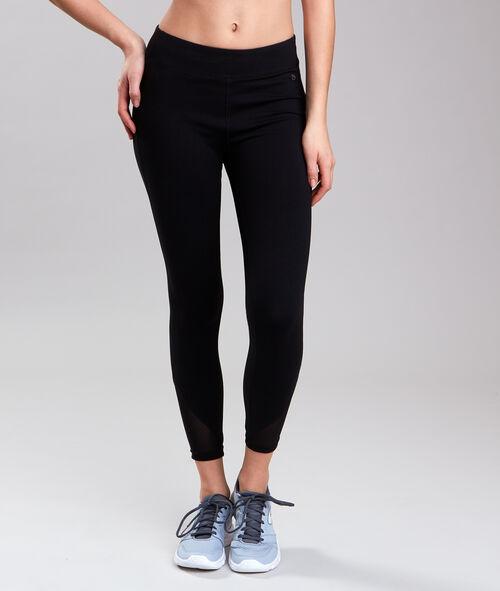 Spodnie 7/8 ultra-strech, efekt modelujący, wstawki z siateczki