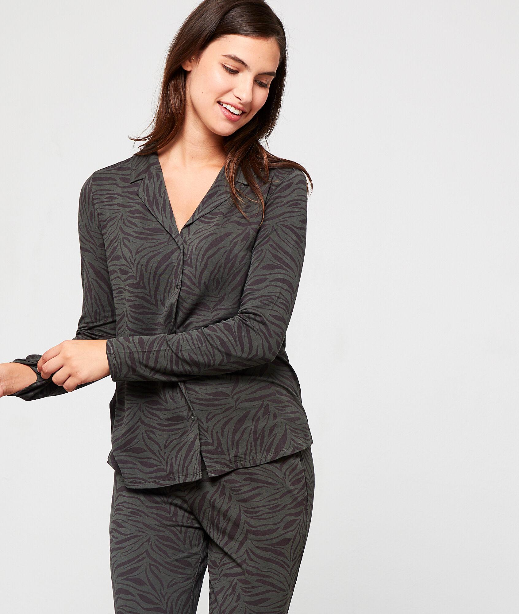LYANA Koszula od piżamy w paski zebry