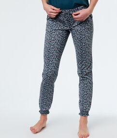 Spodnie z motywem florystycznym bleu.