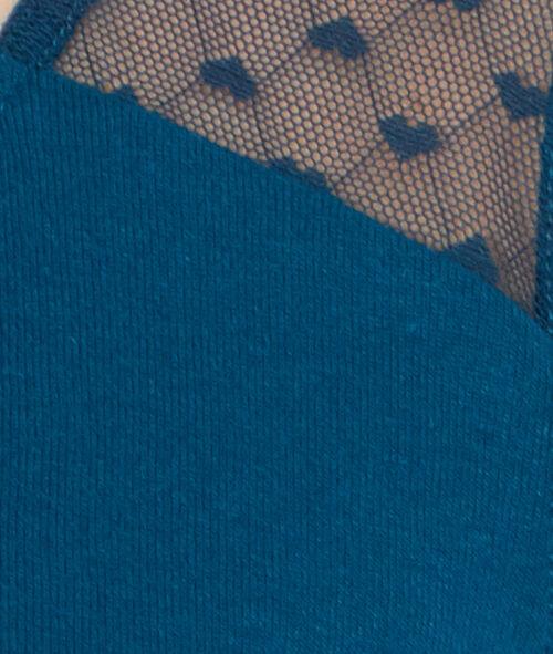 Koszulka klasyczna, detal koronka
