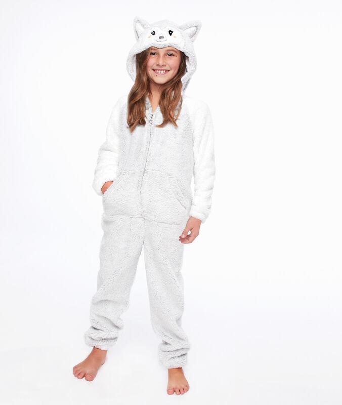 Kombinezon piżamka dla dzieci- piesek gris clair.