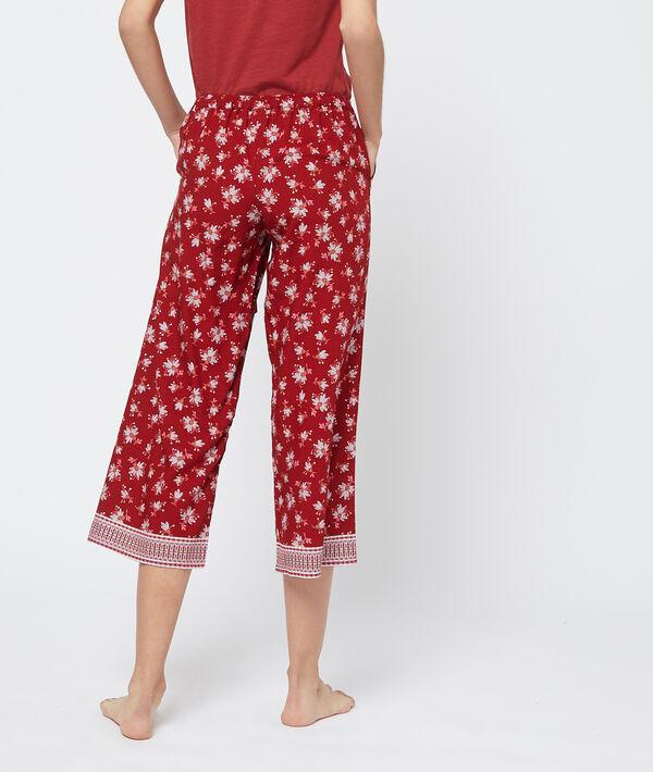 Wzorzyste spodnie capri z rozszerzanymi nogawkami