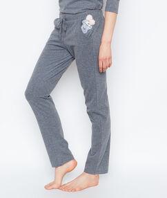 Spodnie z potworkiem gris.