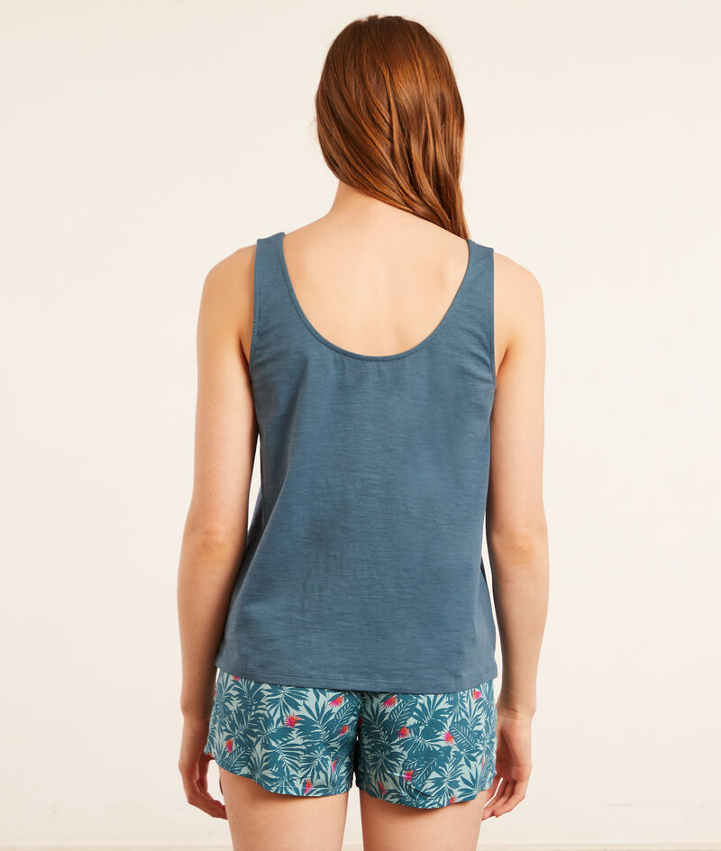Top od piżamy z napisem 'summer';${refinementColor}