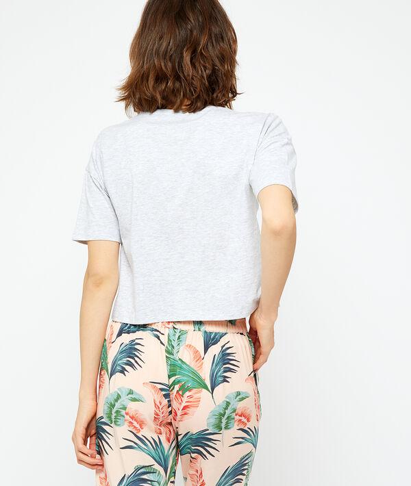 T-shirt z organicznej bawełny z napisem 'paradise';${refinementColor}