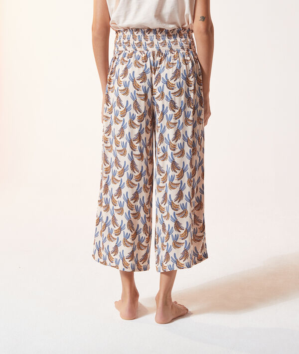 Wzorzyste spodnie piżamowe 3/4;${refinementColor}