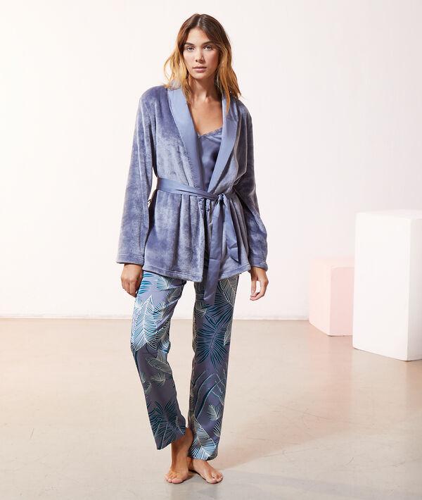 Trzyczęściowa piżama z satyny i pluszu;${refinementColor}