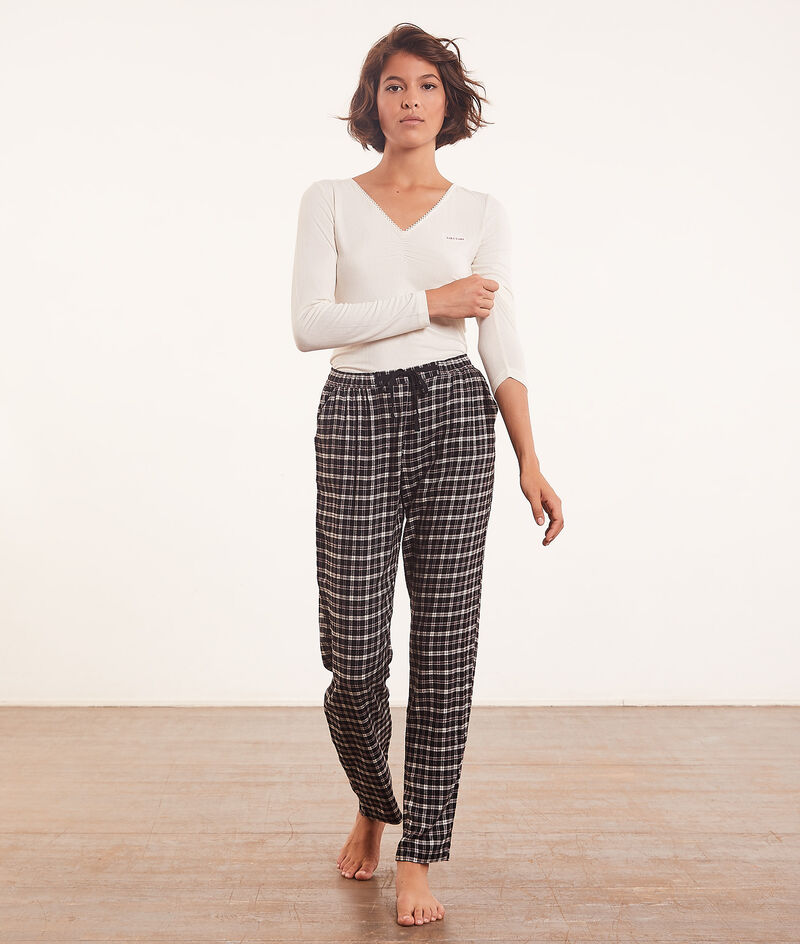 Spodnie od piżamy w kratkę;${refinementColor}
