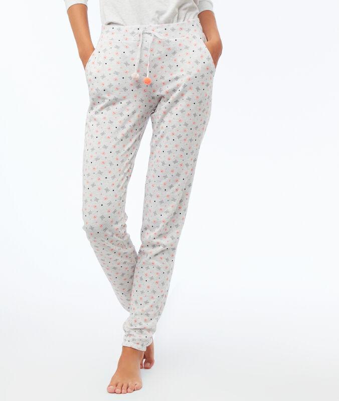Wzorzyste spodnie gris clair.
