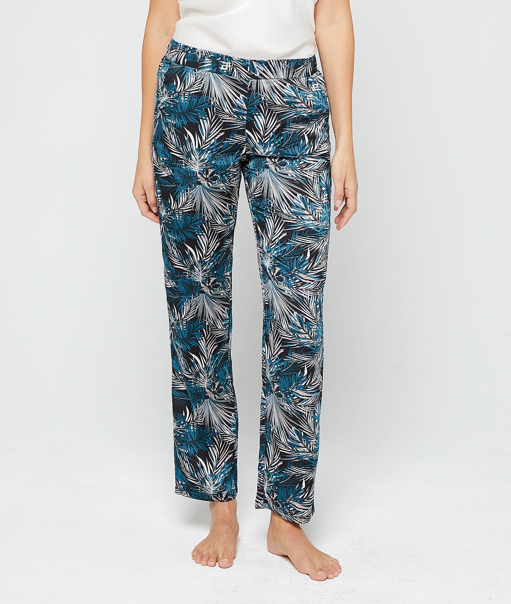 JARODI Spodnie z nadrukiem liści