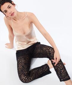 Spodnie z koronki gipiurowej noir.