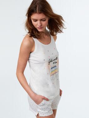 T-shirt z napisem blanc.