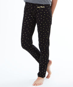 Spodnie w gwiazdki noir.