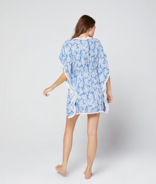 Wzorzysta koszulka nocna tunika