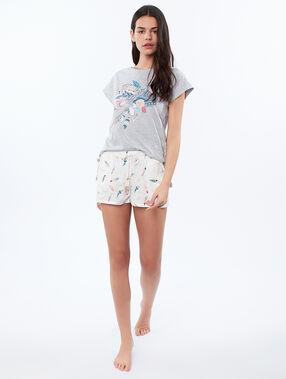 T-shirt z nadrukiem pióropusza gris.