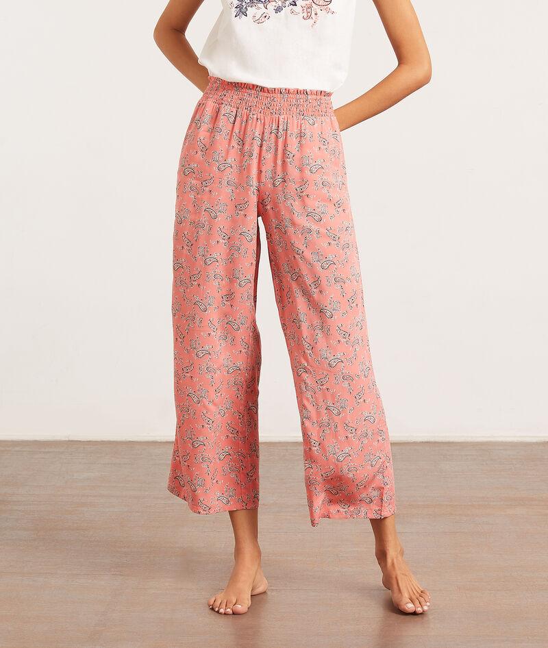 Spodnie od piżamy z apaszkowym nadrukiem