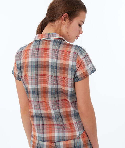 Koszula w kratę wiązana