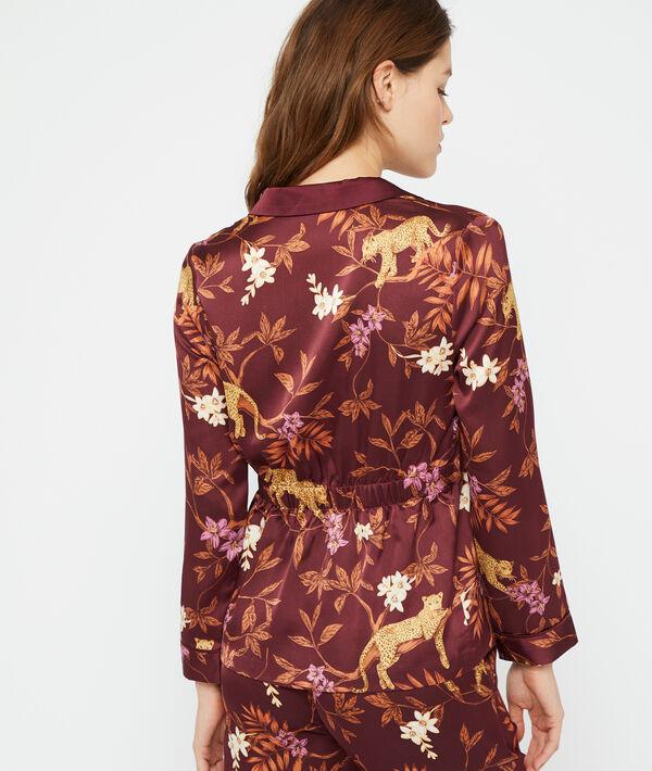 Koszula od piżamy z nadrukiem lamparta;${refinementColor}