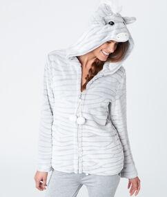 Bluza zebra gris.