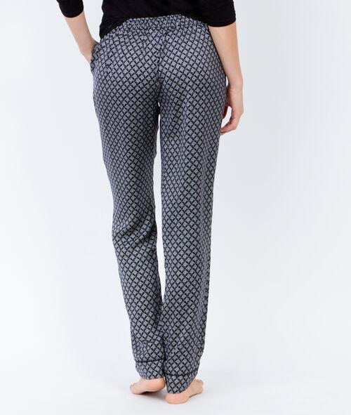 Lejące spodnie od piżamy w deseń
