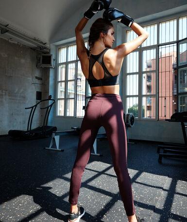 Legginsy z elastycznymi paskami po bokach w fantazyjne wzory cassis.
