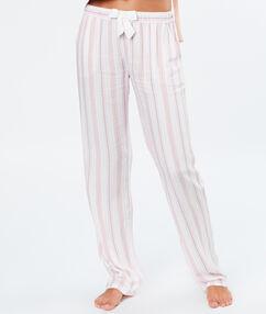 Spodnie w paski rose.