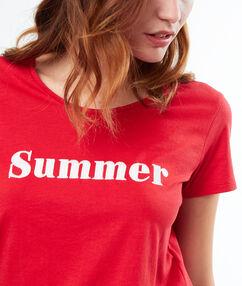 T-shirt z napisem rouge.