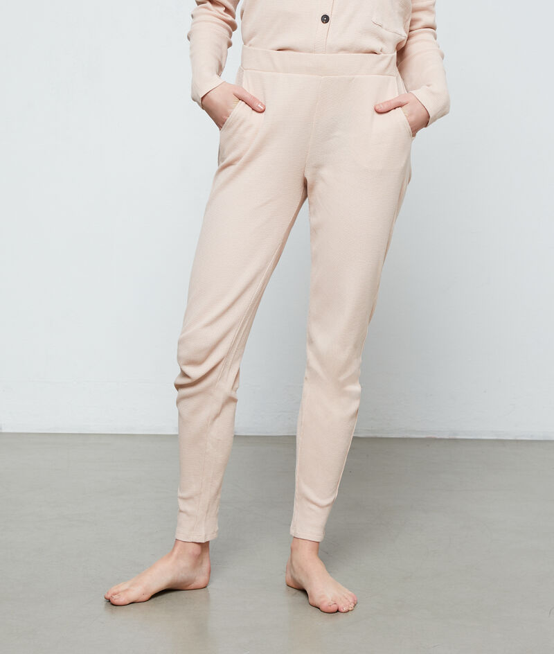 Bawełniane spodnie od piżamy;${refinementColor}