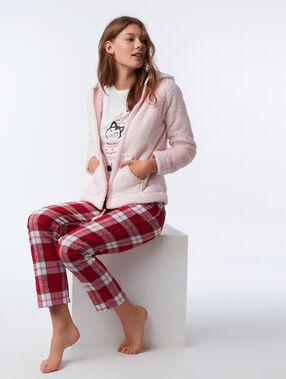 Piżama trzyczęściowa z motywem kotka rose.
