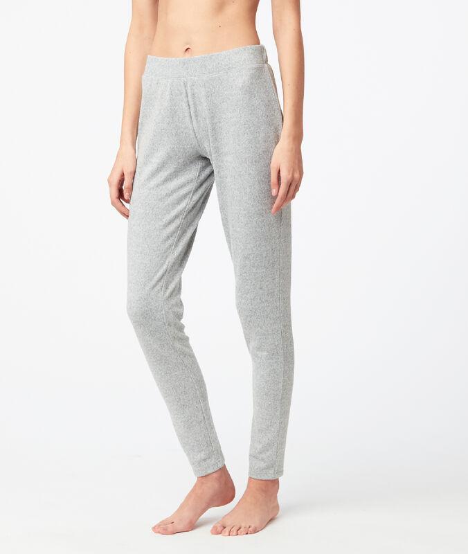 Spodnie legginsy w deseń typu melanż gris.