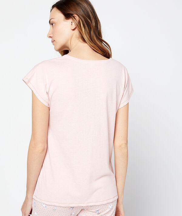 """T-shirt z napisem """"roule ma poule"""""""