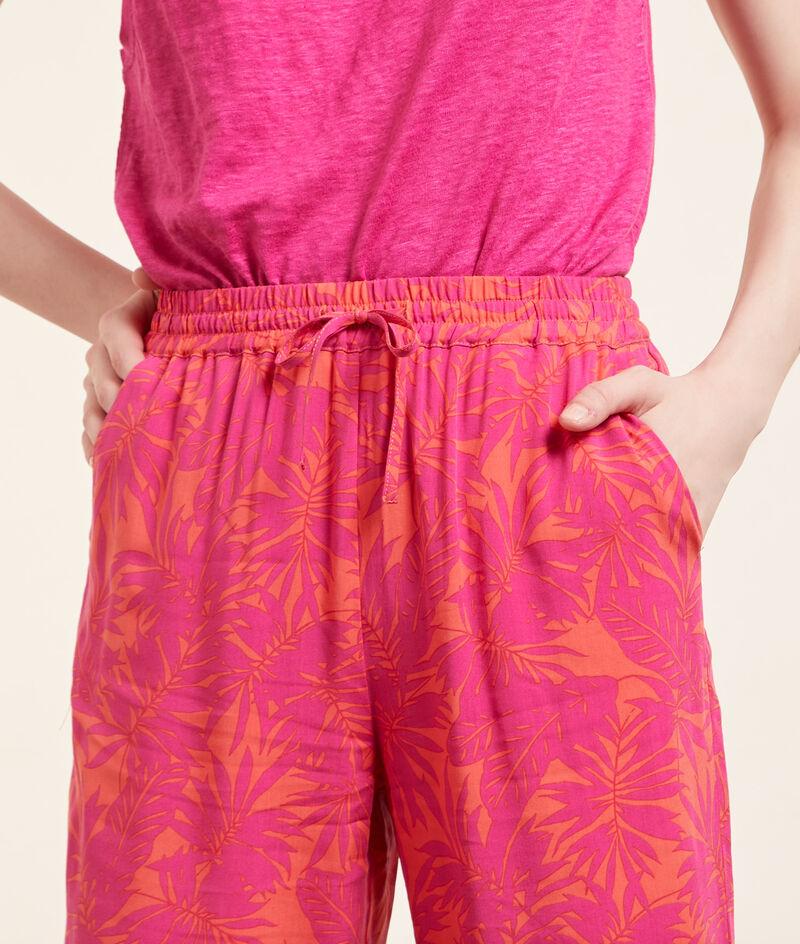 Wzorzyste spodnie od piżamy 7/8;${refinementColor}