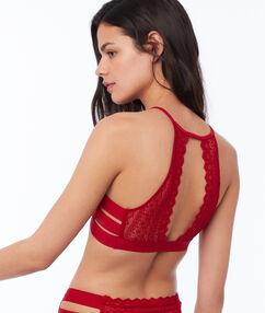 Koronkowa braletka w stylu sportowym z trzema paskami rouge.