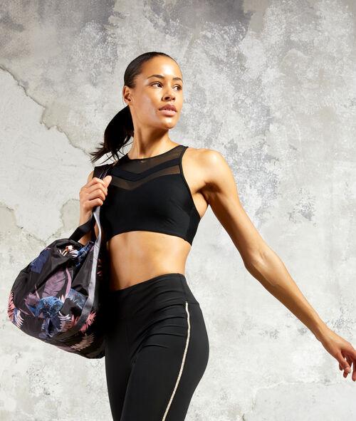 Biustonosz sportowy, wyjmowane poduszeczki - mocne podtrzymanie