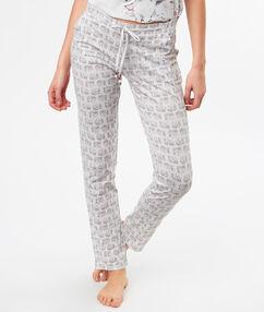 Spodnie z motywem słoni gris.
