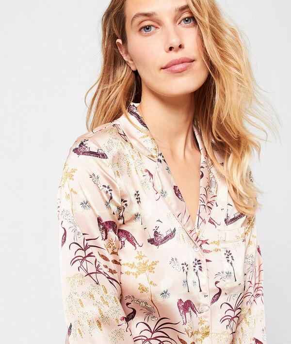 Satynowa koszula od piżamy