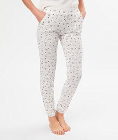 Wzorzyste spodnie blanc.