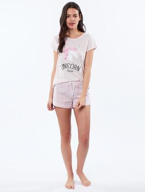 T-shirt z nadrukiem jednorożca rose.