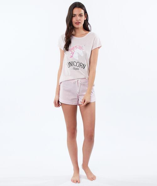 T-shirt z nadrukiem jednorożca