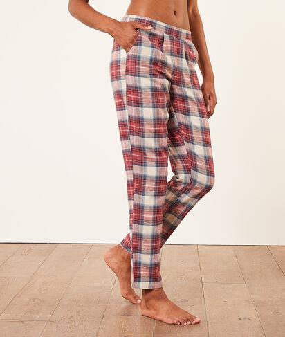 Spodnie od piżamy w kratę;${refinementColor}