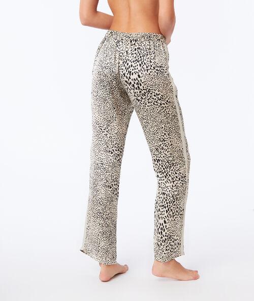 Spodnie z szerokimi nogawkami w cętki leoparda