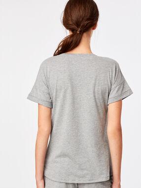 T-shirt z napisem anthracite.