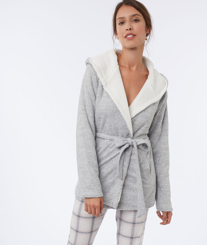 Bluza homewear gris.