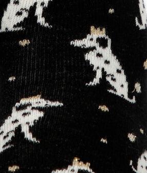 Skarpetki w dalmatyńczyki noir.
