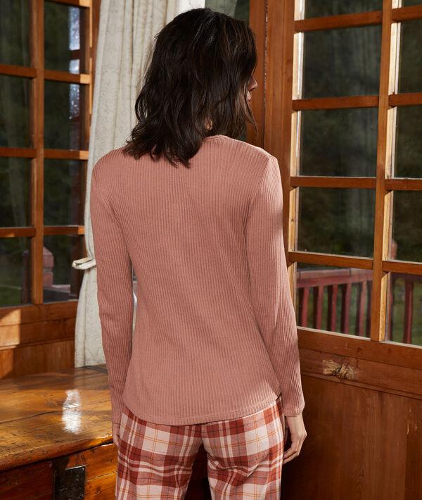 T-shirt z prążkowanej bawełny organicznej