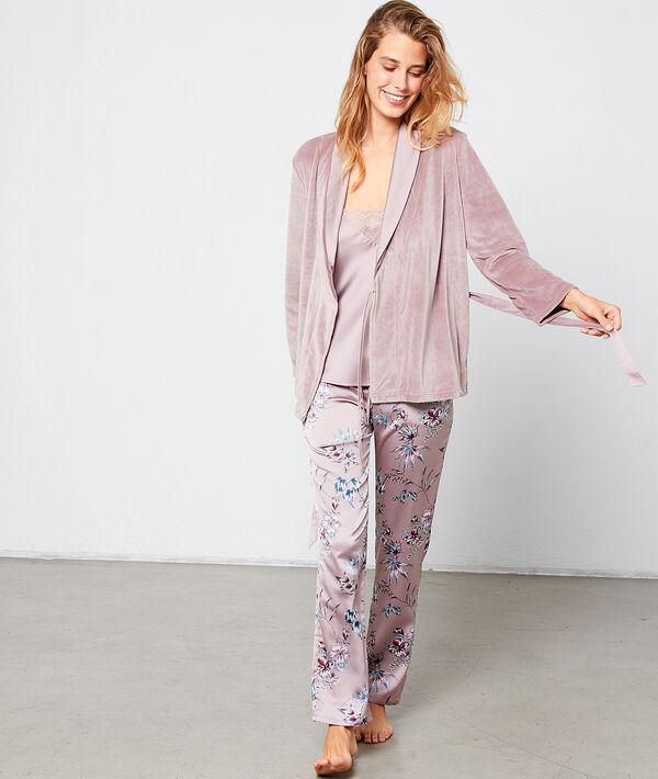 Satynowa piżama trzyczęściowa